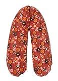 Flexofill 2008-1-554 - cuscino da gravidanza - con federa - XL 190 x 40cm - fiori rossi vintage