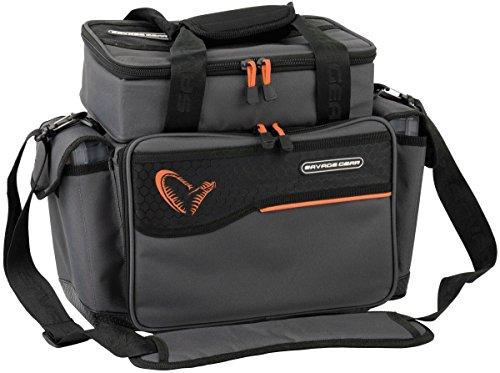 Savage Gear Lure Specialist Bag L Tasche 35x50x25cm inkl. 6 Angelboxen , Anglertasche für Kunstköder & Angelköder, Ködertasche, Angelbox, Köderbox, Angeltasche