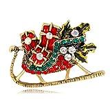 GJongie Broche Broches para Mujer Broches Joyería De La Serie De Navidad De Diamantes De Motos De Nieve Broche De Joyería