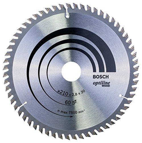 Preisvergleich Produktbild Bosch Zubehör 2608641190 Kreissägeblatt Optiline Wood 210 x 30 x 2,8 mm, 60