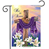 "Best Briarwood Lane Garden Decors - Easter Cross Garden Flag Briarwood Lane 12.5"" x Review"
