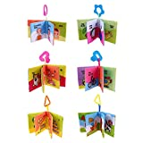 #1: Zibuyu Baby Soft Cloth Books Newborn Infant Rustle Sound Educational Stroller Toy