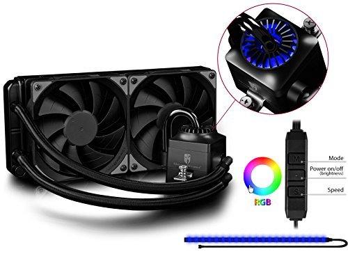 DEEPCOOL CAPTAIN 240 EX RGB All-In-One Wasserkühlung AIO Flüssigkeitskühlung 240mm Wasserkühler