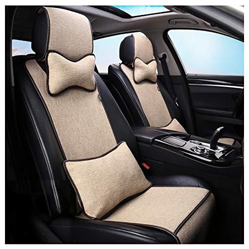 Lixiong universali coprisedile auto estivi sedile cuscino coprisedile per interni protettore pad fresco mat traspirante per sedia per ufficio forniture poliestere, 13 pezzi (colore : beige)