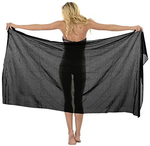 9 Modelle Sarong Pareo Wickelrock Badeanzug Strandtuch Tuch Wickeltuch Handtuch Schließe Strandkleidung Stylish Schwarz