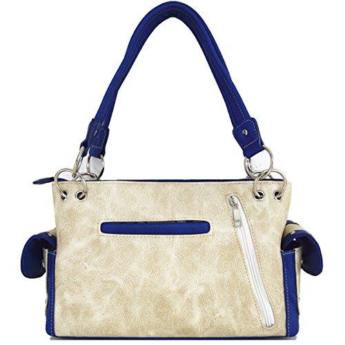 Blancho Biancheria da letto delle donne [speranza] borsa dell'unità di elaborazione di cuoio di modo elegante Borsa BLU BAG-BEIGE