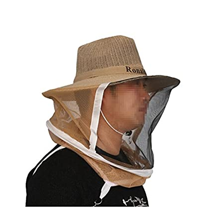 Farm & Ranch Beekeeping Cowboy Hat Mosquito Bee Insect Net Veil Head Face beekeeper equipments 7