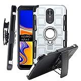 CmNo1 LG K10 Pro/Stylus 3 Fall,Heavy Duty Shockproof[Ständer][Gurt-Schwenkclip] Zweischichtiger Ganzkörperpanzer Robuster Schutz-Tragekoffer für LG K10 Pro/Stift (Silber)