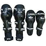 #10: Motoway Axo Motorcycle Racing Riding Knee & Elbow Guard Pads protector Gear Black (Black Pack of 4) For All Bike