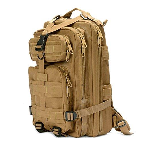 tacvasen 35L MOLLE Military Rucksack Wasserdicht Oxford Rucksack Tactical Outdoor Sport Tasche für Wandern, Trekking, Camping, Klettern Reise 3P Camouflage Attack Assault Day Pack Khaki