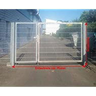 Einfahrtstor 2-flügelig asymmetrisch verzinkt / Breite: 450 / Höhe 180cm / 1,5m + 3,0m / Tor Hoftor Doppeltor Gartentor