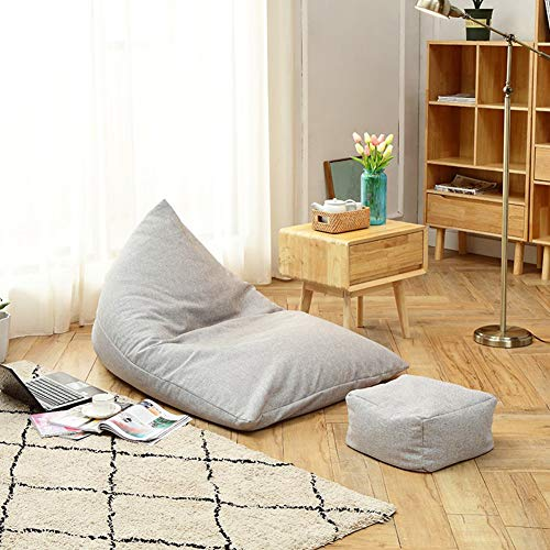 XUE Bean Bag Chair: Memory Foam Furniture Bean Bag-Soft Micro Fiber Cover Ultra Soft Bean Bag Chair-Memory Foam Bean Bag Chair Stuffed Foam Foam Filled Furam Belniture Big Sofa