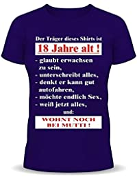 18.Geburtstag Spass T-Shirt Der Träger dieses Shirts ist 18 Jahre alt!... Fb navyblau