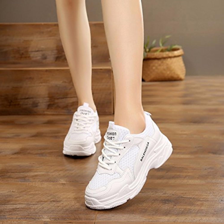 GTVERNH Zapatos de mujer/Verano/Espray/Nuevo Estilo Zapatos de Deporte Joker Mujer Zapatos Espesores Parte inferior... -