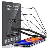 LK [3 Stück Schutzfolie für Samsung Galaxy J4 Plus, Samsung Galaxy J4 Plus Panzerglas, [Alignment Frame Einfache Installation] [Bubble Free] mit lebenslanger Ersatzgarantie