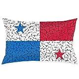 MedieMo Panama - Fundas de Almohada Decorativas de puzle, Suave y acogedora, tamaño estándar 50,8 x 76,2 cm, con Cremallera Oculta