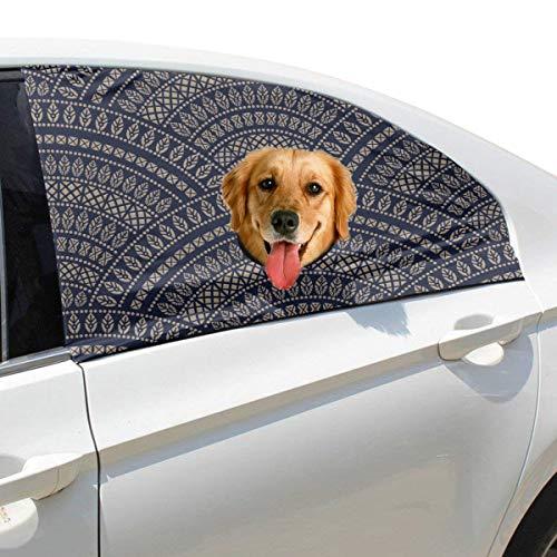 Plsdx Grafik Symmetrische Muster Hund Sicherheit Autoteil Fahrzeug Auto Fenster Zaun Vorhang Barrieren Protector Für Baby Kind Sonnenschutz Abdeckung Universal Fit SUV -