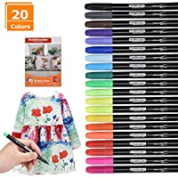 Willingood 20 Pack Fabric pens | Permanent Fabric Marker pens | Fabric pens for t Shirts Bags Cloth Bags and Various Types of Fabrics