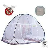 Top Moustiquaire pour lit, Pop Up Mosquito Nets Installation sans filets pliante Tente Moustiquaire ciel de lit Rideaux avec fermeture à glissière pour bébés tout-petits enfants Adulte Voyage 150 * 200 * 150cm