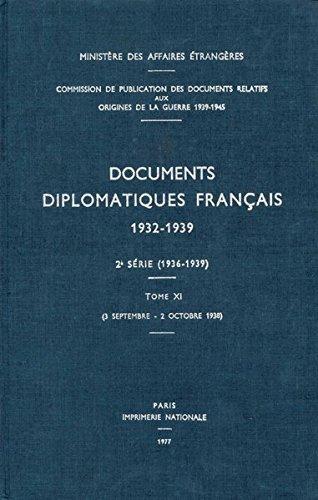 Documents diplomatiques français: 1938 - Tome IV (3 septembre - 2 octobre) par Ministère des affaires étrangères