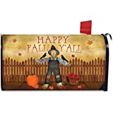 Happy Fall Y'all Scarecrow Mailbox Cover Primitive Autumn Briarwood Lane by Briarwood Lane