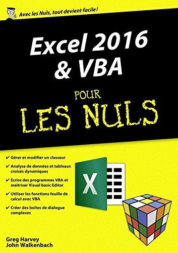 Excel 2016 et VBA pour les Nuls mgapoche