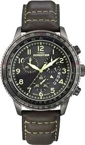 Timex Sport & Outdoor Herren-Armbanduhr Chronograph leder braun T49895SU