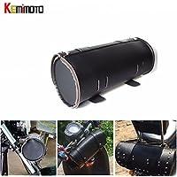 unory (TM) Moto Strumento Borsa In Pelle Pu Borsa per manubrio per moto Sissy Bar Strumento di forcella anteriore sella borsa rotolo