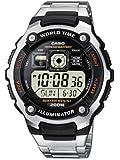Casio - Homme - AE-2000WD-1AVEF - Standard - Quart Digitale - Cadran Noir - Argent - Acier Inoxydable