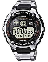 Casio Collection – Herren-Armbanduhr mit Digital-Display und Edelstahlarmband – AE-2000WD-1AVEF