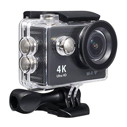 Action Kamera Für Sport Fotografie WIFI UHD 4K / 25fps, 1080P / 60fps, 70-170 Weitwinkelobjektiv Wiederaufladbare Batterie, Wasserdicht Bis 30m Von Qkfly