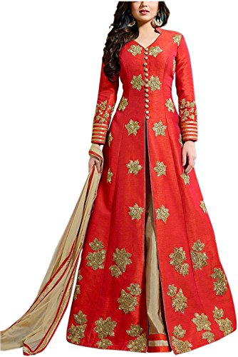 Shreebalaji Enterprise Women\'s Georgette Anarkali suit (Gray Casul01__Multi-Coloured_Free Size)