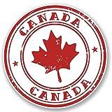 2 x 10cm/100mm Kanada Vinyl SELBSTKLEBENDE STICKER Aufkleber Laptop reisen Gepäckwagen iPad Zeichen Spaß #4539