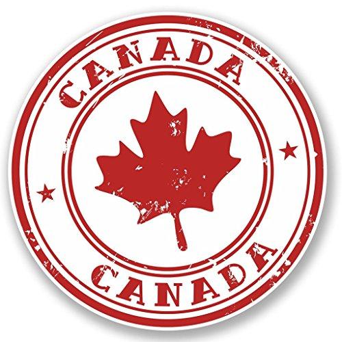2 x 10cm/100mm Kanada Vinyl SELBSTKLEBENDE STICKER Aufkleber Laptop reisen Gepäckwagen iPad Zeichen Spaß #4539 (Kanada Aufkleber)