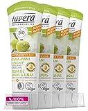 Lavera Bio Creme Hände und Nägel mit Olivenöl und Kamille–Vegan–100% natürlichen Kosmetika–Zur Hautpflege 4Frischhaltedosen Zertifikate von 75ml