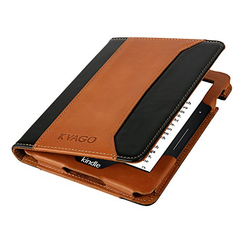 kindle-voyage-folio-case-kvago-premium-genuine-leather-flip-cover-with-stand-feature-auto-sleep-wake