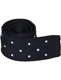 Amurleopard Fashion Homme cravate tricot imprime slim cravate en maille