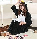 iKneu Tier Onesie Jumpsuits Kostüm Pyjama Oberall Hausanzug Kigurum Fastnachtskostüm Schlafanzug (L (165-175CM), Pinguin) - 5