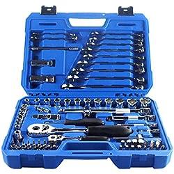 Valianto Auto Mechanisch Reparatur Tool Steckschlüssel Satz Werkzeugkoffer Werkzeugset Werkzeugbox, 78-teilig