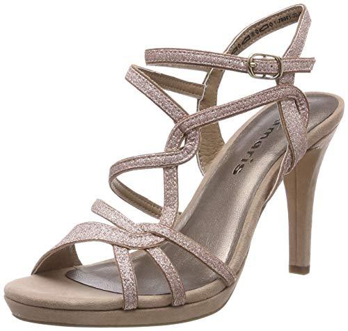 Tamaris 1-1-28001-22, Sandali con Cinturino alla Caviglia Donna, Rosa (Rose Glam 552), 39 EU