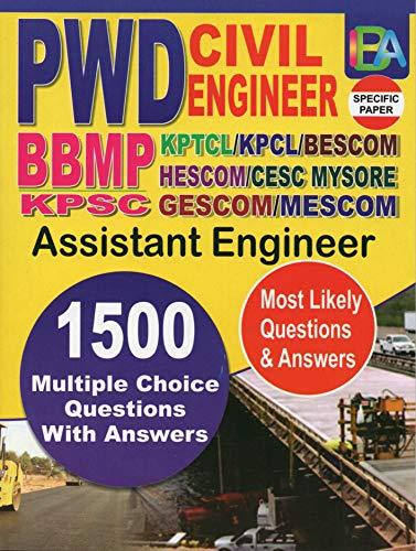 PWD Civil Engineer (BBMP, KPTCL, KPCl, KPSC, BESCOM, HESCOM, CESC Mysore, GESCOM, MESCOM) - Most Likely 1500 MCQ & Answers
