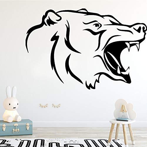 zqyjhkou Kreative Wolf Muster Aggressive Tier Wandaufkleber Für Jungen Zimmer Schlafzimmer Decoraiton Zubehör Wandtattoo Lustige Vinyl Wandbild M 30 cm X 20 cm (Queen Tiere City)