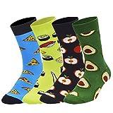 iParaAiluRy 4/5 Pares Calcetines para Hombre y Mujer Calcetines Divertidos de invierno Casual Socks de Algodón Patrones Coloridos