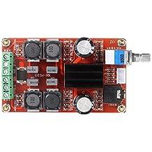 Gocheer 2x50W Potencia digital Placa del amplificador Clase D DC12V 24V Doble canal Audio Estéreo AMPERIO