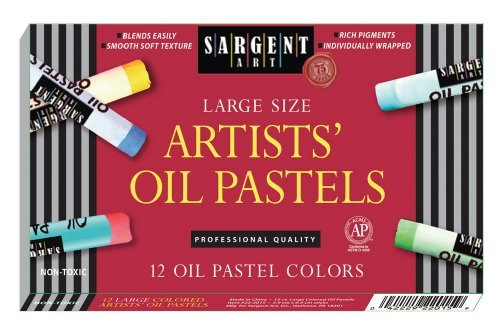 Sargent Art 22-2015 12-Count Large Oil Pastels