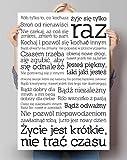 REINDERS Du Lebst? Polska Poster 61 x 91.5 cm - Bild Plakat Druck - Weiß