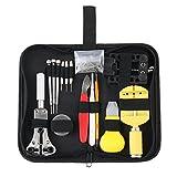 144 Stk Professional Uhr Reparieren Werkzeug Set, COUTUDI Hintergrund-Fall Öffner Entferner Solide Hammer Spring Bar Uhrmacher mit Tragetasche