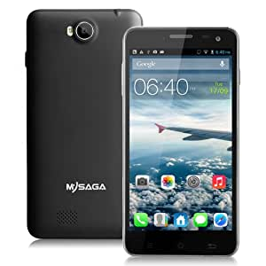 "MYSAGA M2 5.0"" Capacitive Touch 1920x1080 Android 4.2 Mobile Phone MTK6589 16G Quad Core Unlocked Dual Sim 3G Smartphone with GPS, Wi-Fi, 8.0MP & 13.0MP Camera Black"