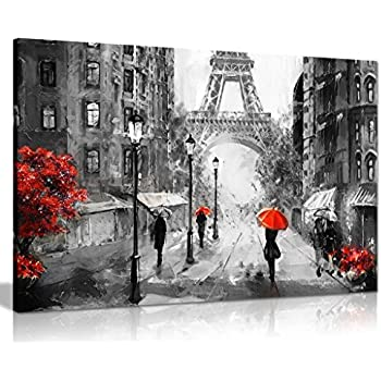 Amazon.de: PARIS schwarz-weiß-Bild - der Eifelturm - ein