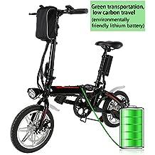 BUSYALL Bicicletta Elettrica Montagna Pieghevole 500 W 35 km/h Ruote di 14 Pollici Femminile, Mountain Bike Shimano 7 in Alluminio Batteria 36 V Luce Anteriore 3 Modi Spina UE (EU STOCK)